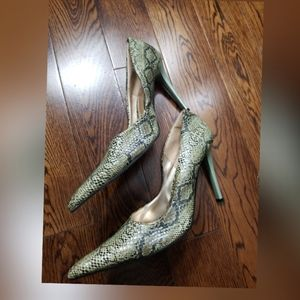 Splash fashion green snake skin heel shoes